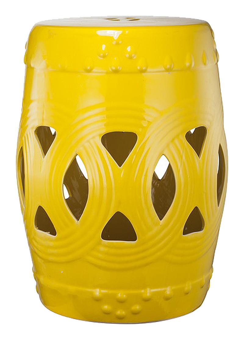 Керамический столик-табурет Fence Stool Yellow от Roomble