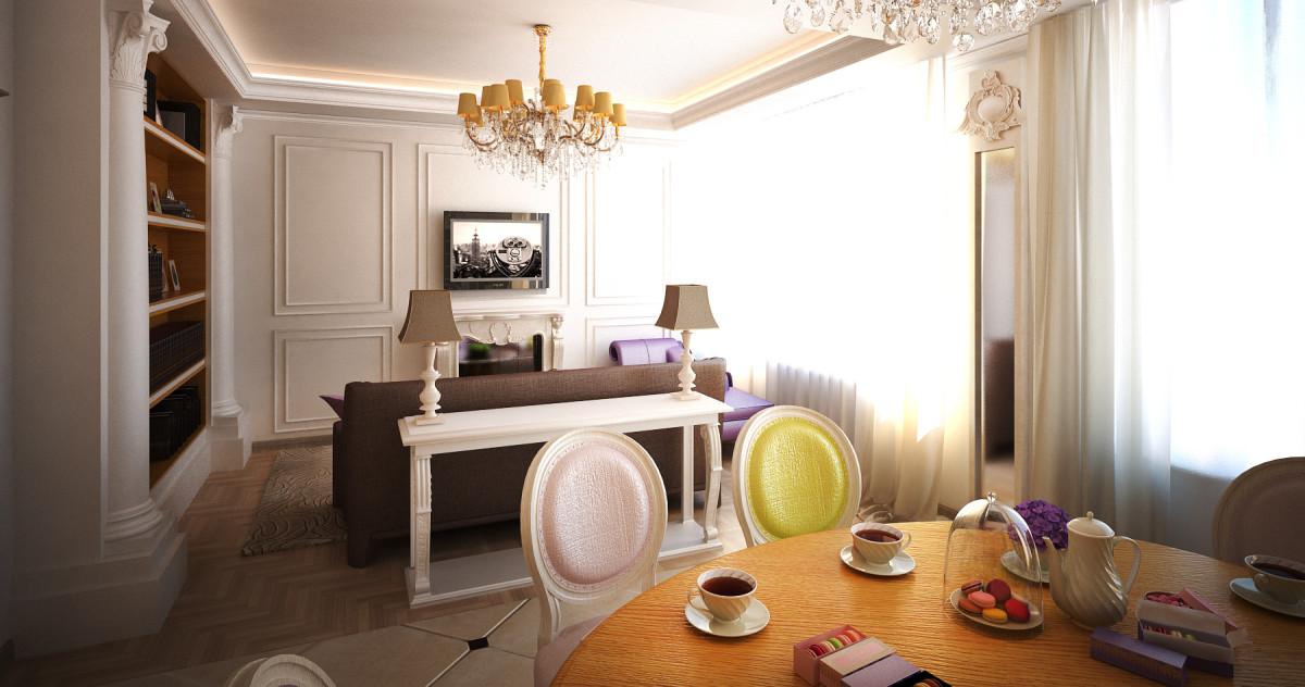 Большая кухня, фальшкамин, будуар: французская квартира в Москве