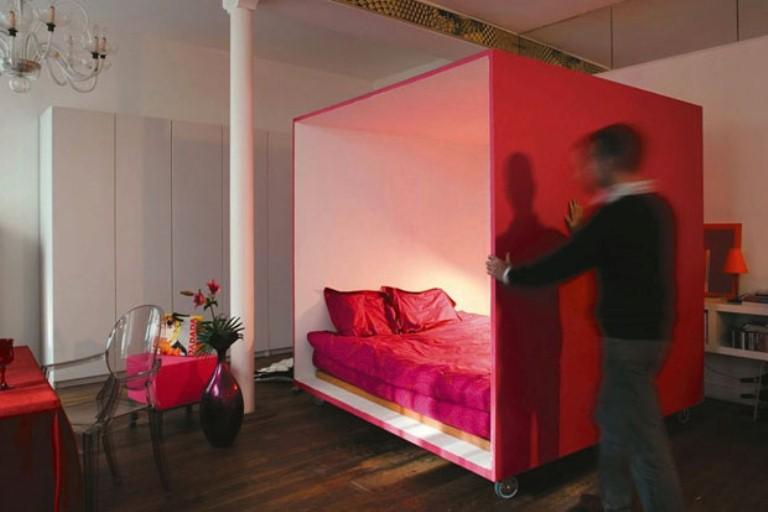 Спальня в  цветах:   Коричневый, Серый, Темно-коричневый, Черный.  Спальня в  стиле:   минимализм.