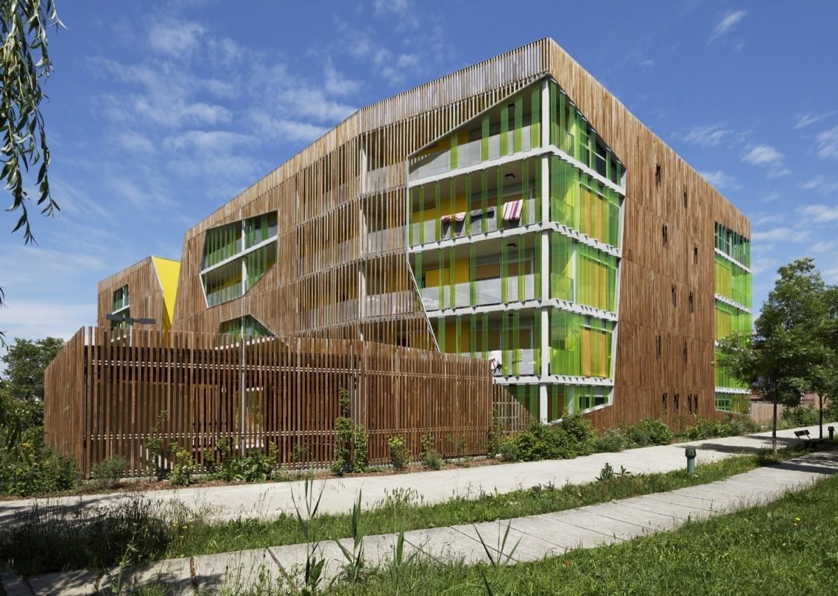 Архитектура в цветах: голубой, темно-зеленый, коричневый, бежевый. Архитектура в стиле модерн и ар-нуво.