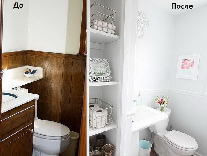 Туалет в цветах: серый, светло-серый, белый, темно-коричневый, коричневый. Туалет в .