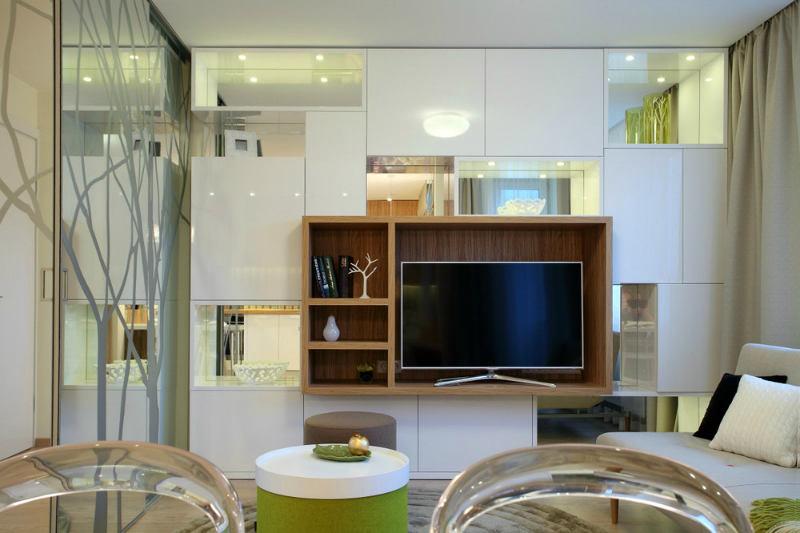 Гостиная, холл в цветах: светло-серый, белый, салатовый, коричневый, бежевый. Гостиная, холл в стилях: минимализм, экологический стиль.