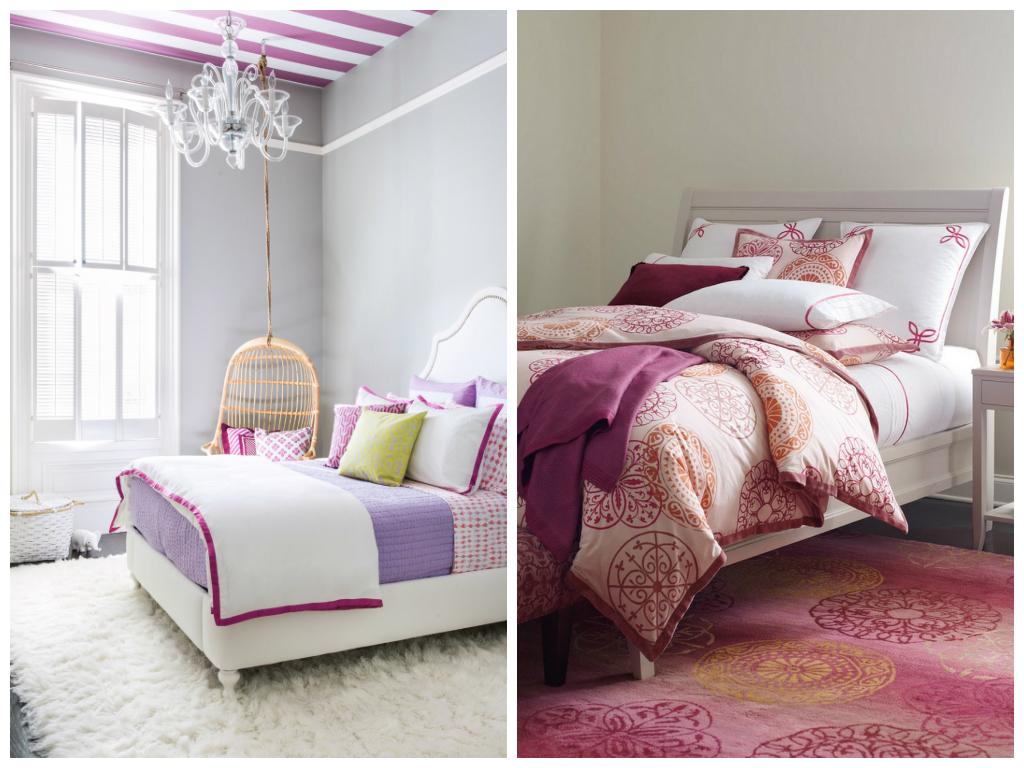 Спальня в цветах: светло-серый, белый, сиреневый. Спальня в стиле арт-деко.