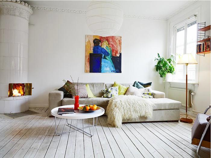 Спальня в цветах: серый, светло-серый, белый, бежевый. Спальня в стиле скандинавский стиль.