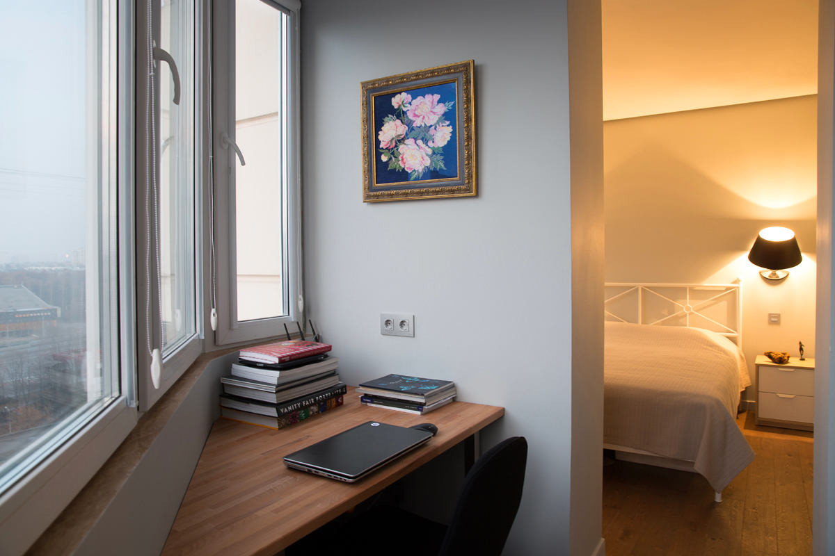 Офис в цветах: желтый, серый, светло-серый, бежевый. Офис в стиле минимализм.