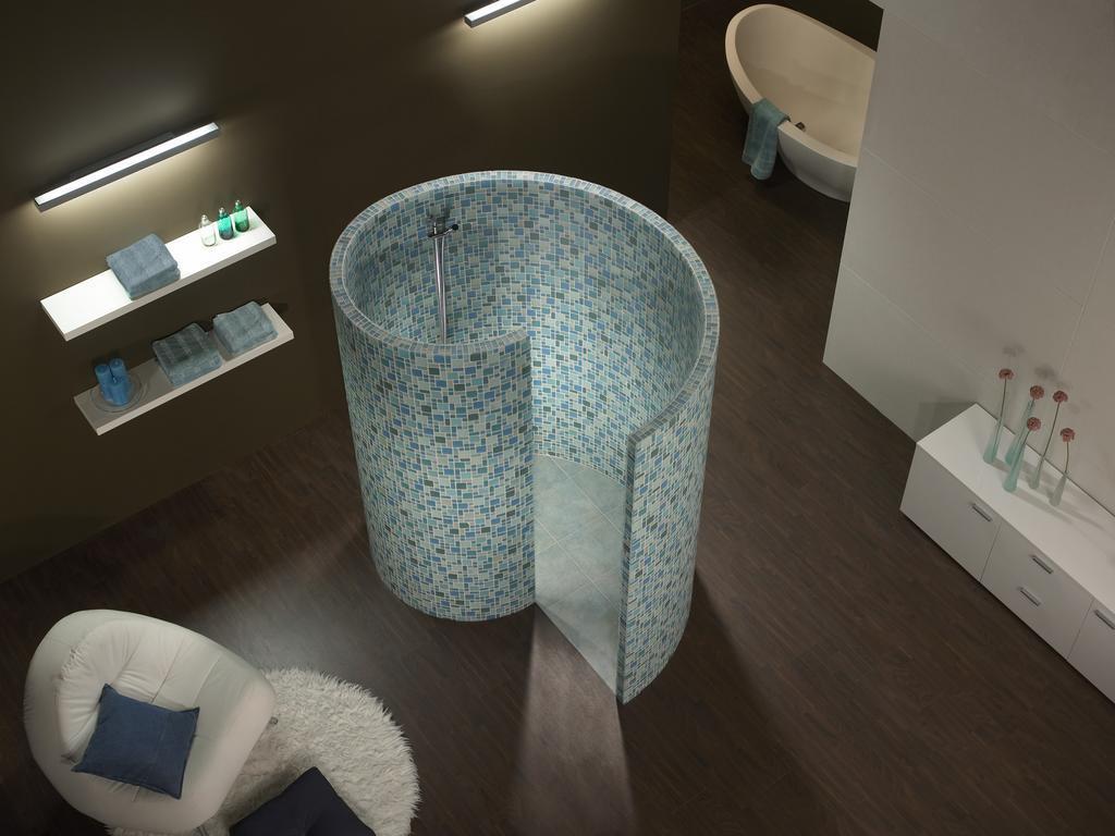 Туалет в цветах: бирюзовый, серый, светло-серый, сине-зеленый. Туалет в стиле минимализм.