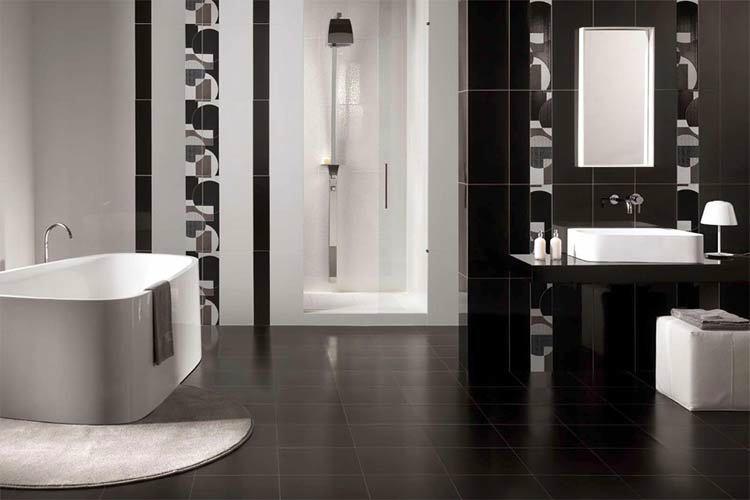 Мебель и предметы интерьера в цветах: черный, светло-серый, белый. Мебель и предметы интерьера в .