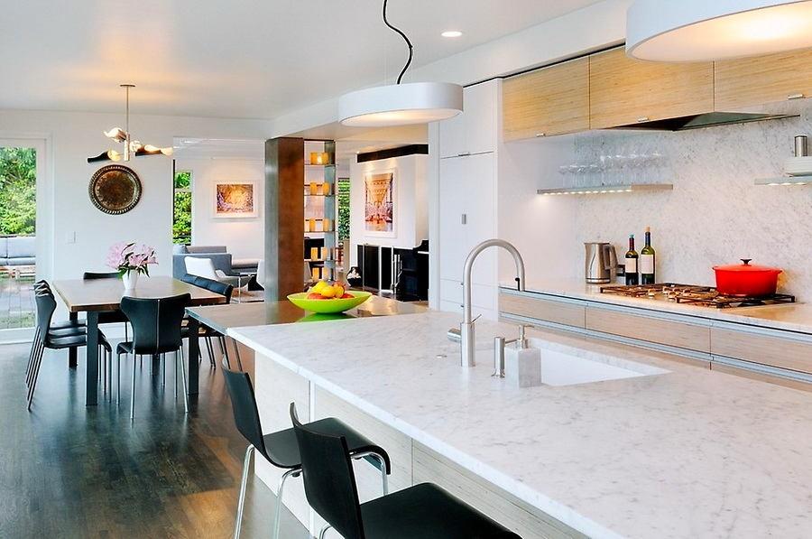 Кухня в цветах: желтый, серый, белый, бежевый. Кухня в .