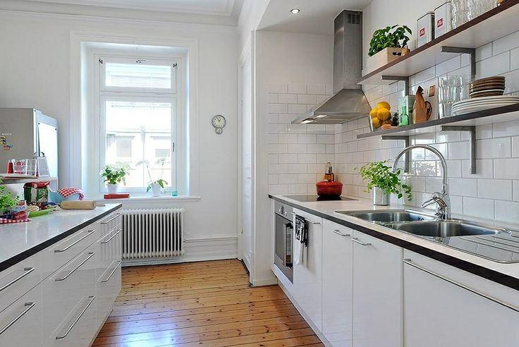 Кухня в цветах: серый, белый, бежевый. Кухня в стиле скандинавский стиль.