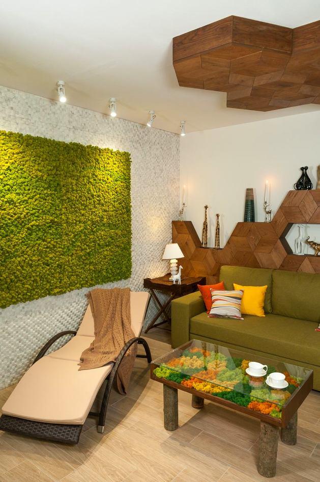 Гостиная, холл в цветах: светло-серый, белый, салатовый, коричневый, бежевый. Гостиная, холл в стиле экологический стиль.