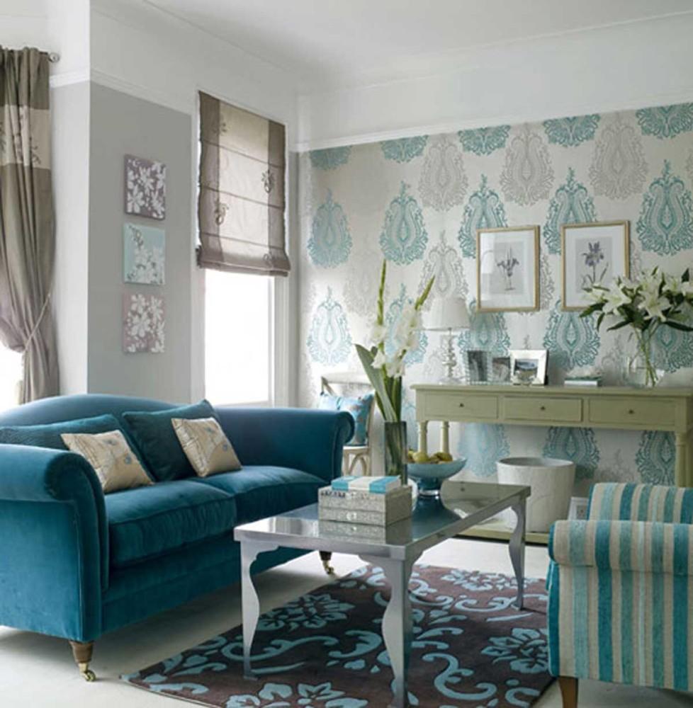 Гостиная, холл в цветах: голубой, бирюзовый, серый, светло-серый, белый. Гостиная, холл в стилях: арт-деко, американский стиль.