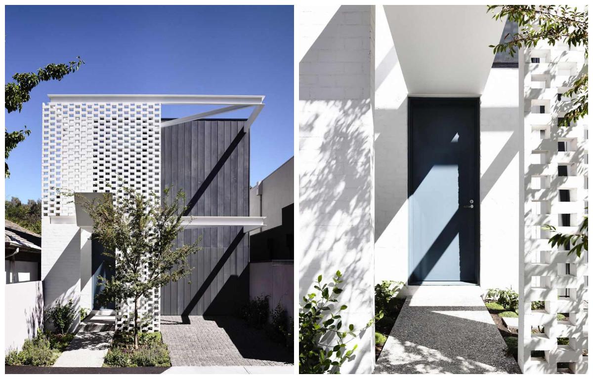 Архитектура в цветах: черный, белый. Архитектура в стиле минимализм.