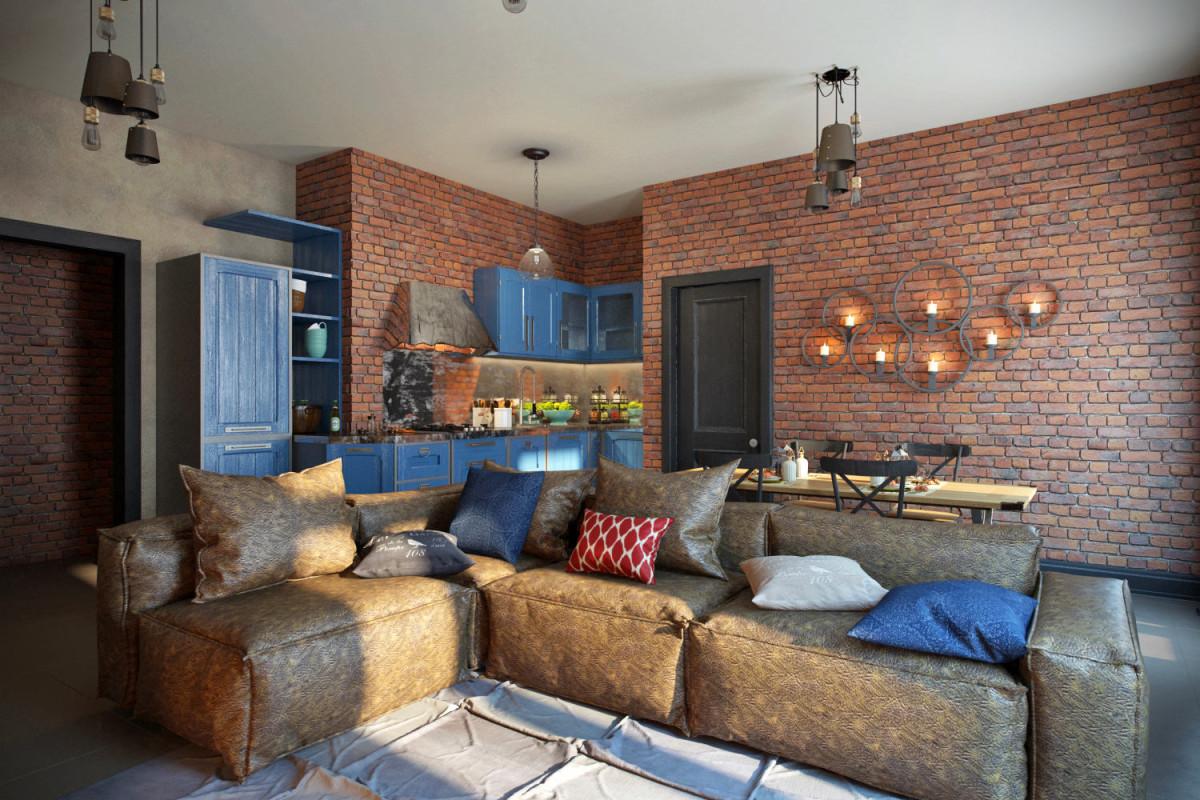 Мебель и предметы интерьера в цветах: черный, серый, светло-серый, коричневый, бежевый. Мебель и предметы интерьера в стиле лофт.