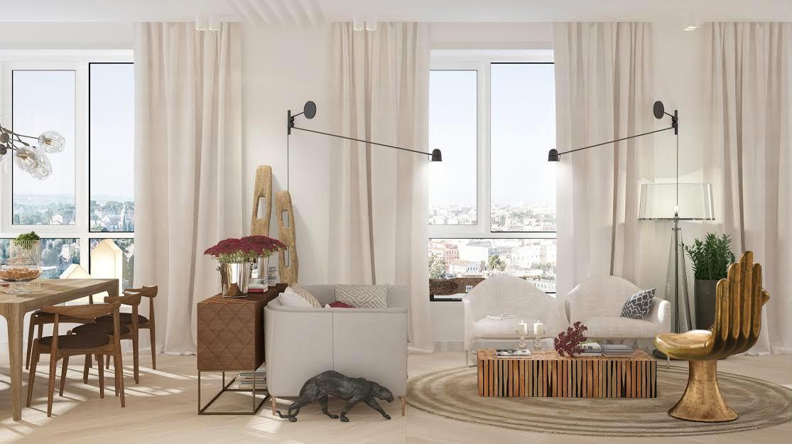 Гостиная, холл в цветах: серый, белый, темно-коричневый, коричневый, бежевый. Гостиная, холл в стилях: минимализм.