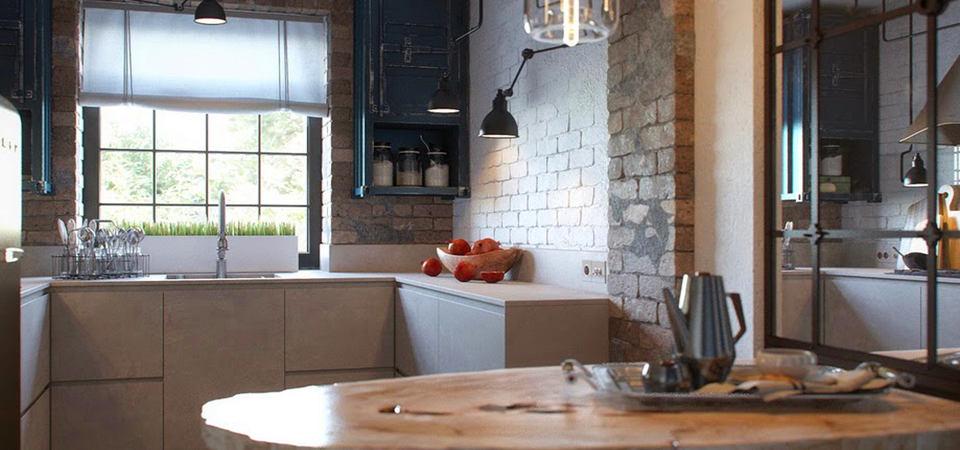 Картинки по запросу Кухня, выполненная в стиле лофт