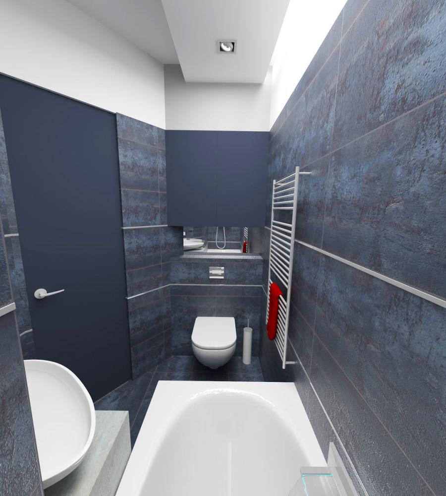 Туалет в цветах: фиолетовый, черный, серый, светло-серый, белый. Туалет в стиле минимализм.