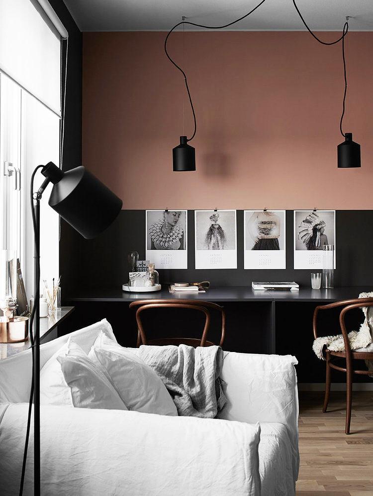 Мебель и предметы интерьера в цветах: черный, серый, светло-серый, бежевый. Мебель и предметы интерьера в стиле скандинавский стиль.