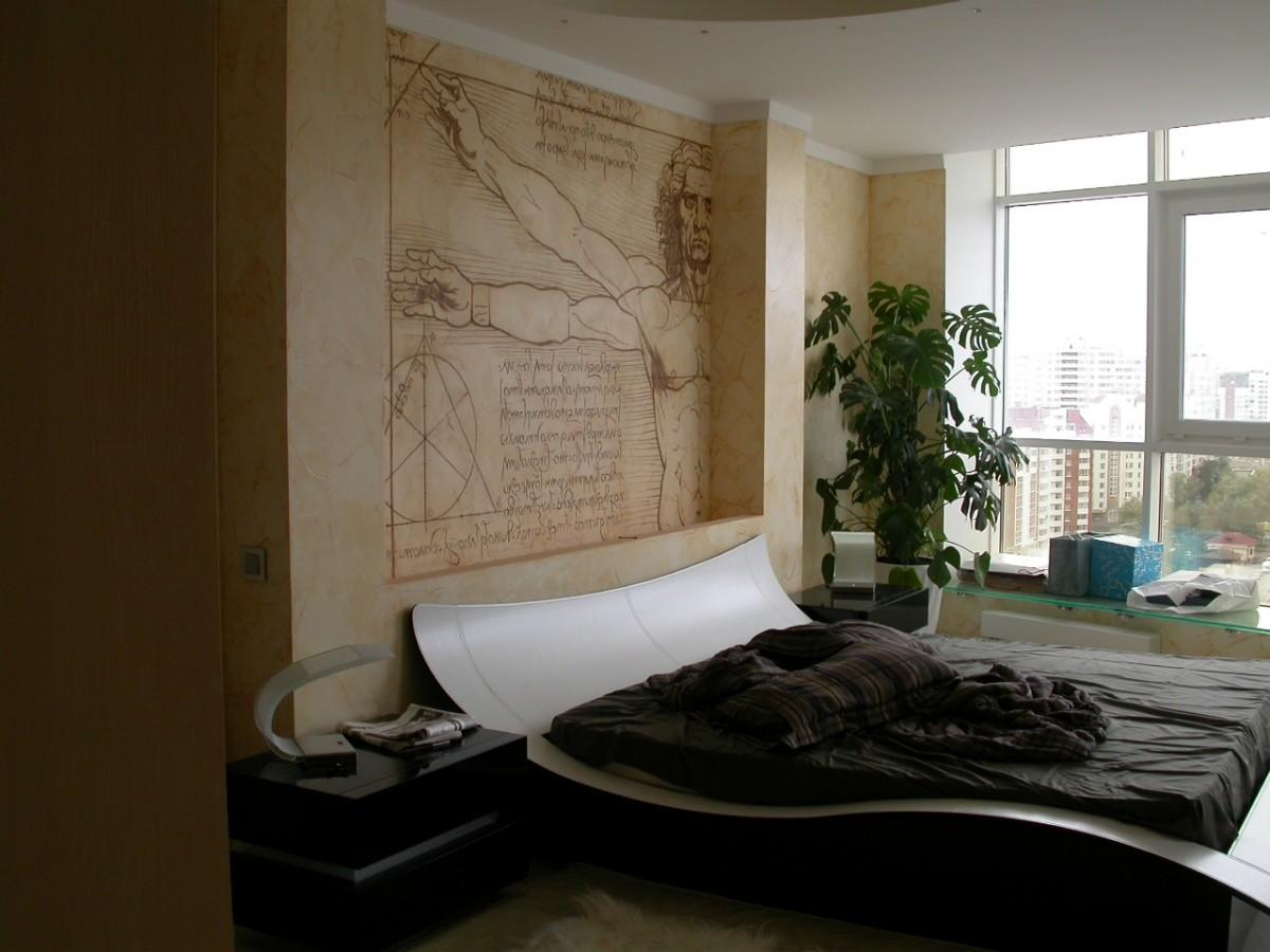 Спальня в цветах: серый, светло-серый, белый, темно-зеленый. Спальня в .