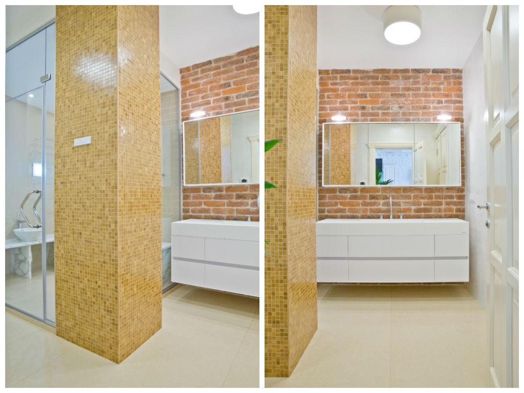 Туалет в цветах: желтый, серый, светло-серый, бежевый. Туалет в стилях: классика.