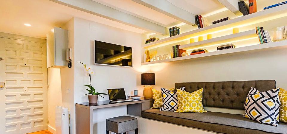 Маленькая квартира на чердаке: 20 квадратных метров, на которых всё есть