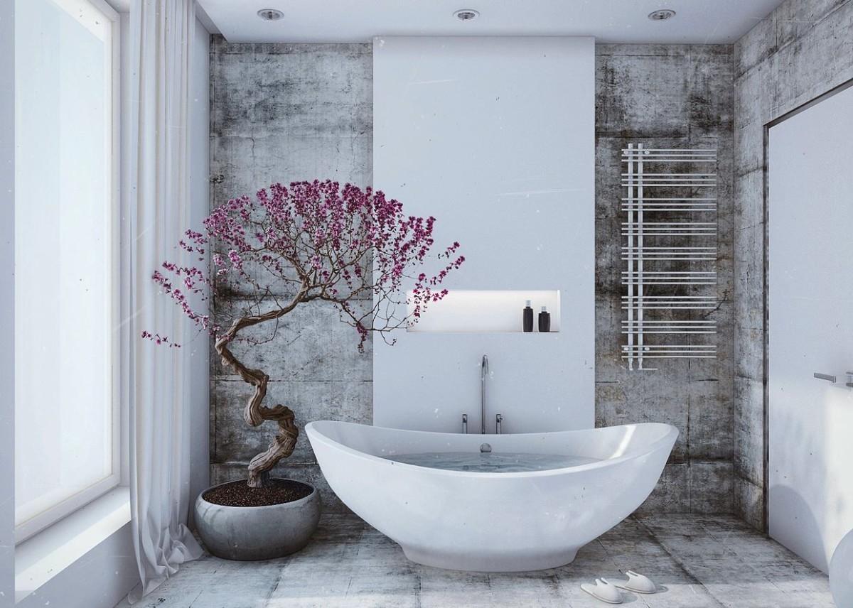 Мебель и предметы интерьера в цветах: серый, светло-серый, белый, сиреневый. Мебель и предметы интерьера в .