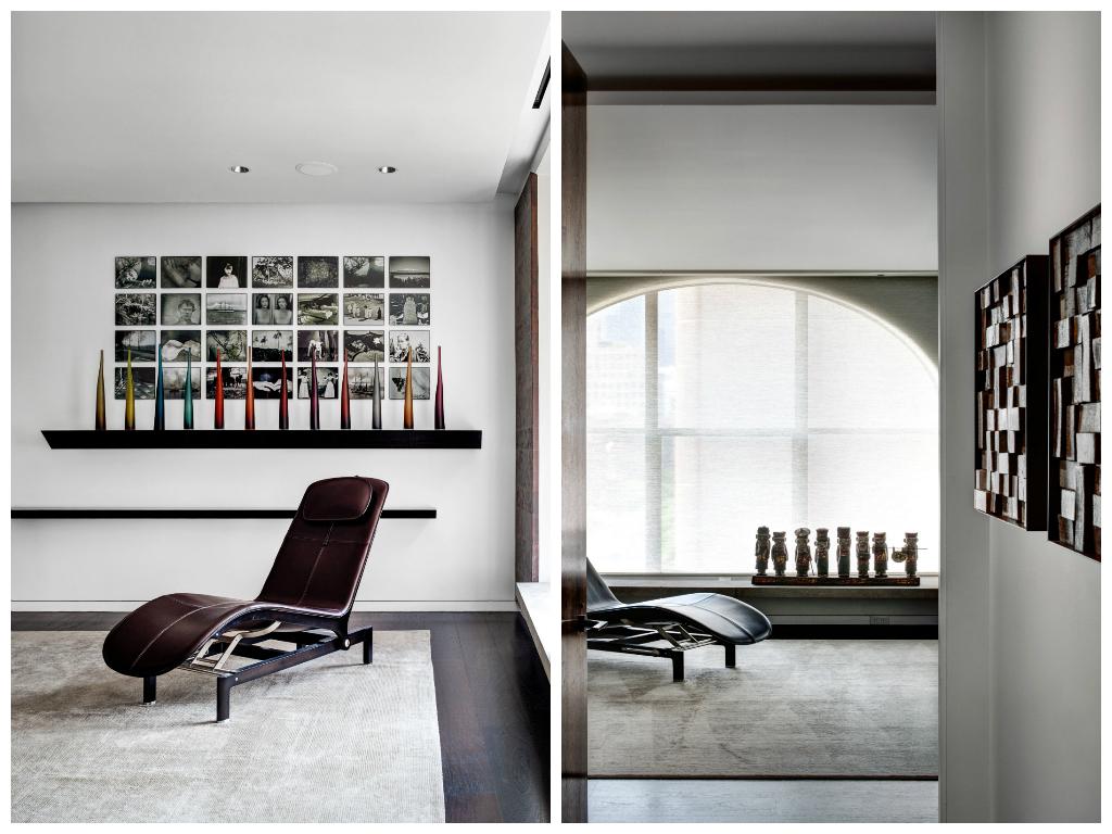 Декор в цветах: черный, серый, светло-серый, белый, коричневый. Декор в стилях: минимализм, хай-тек.
