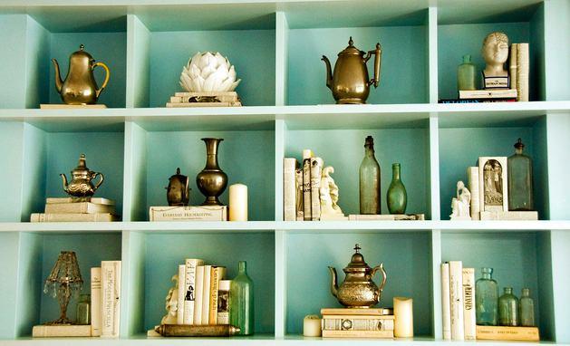 Декор в цветах: бирюзовый, светло-серый, темно-зеленый, салатовый, сине-зеленый. Декор в стиле эклектика.