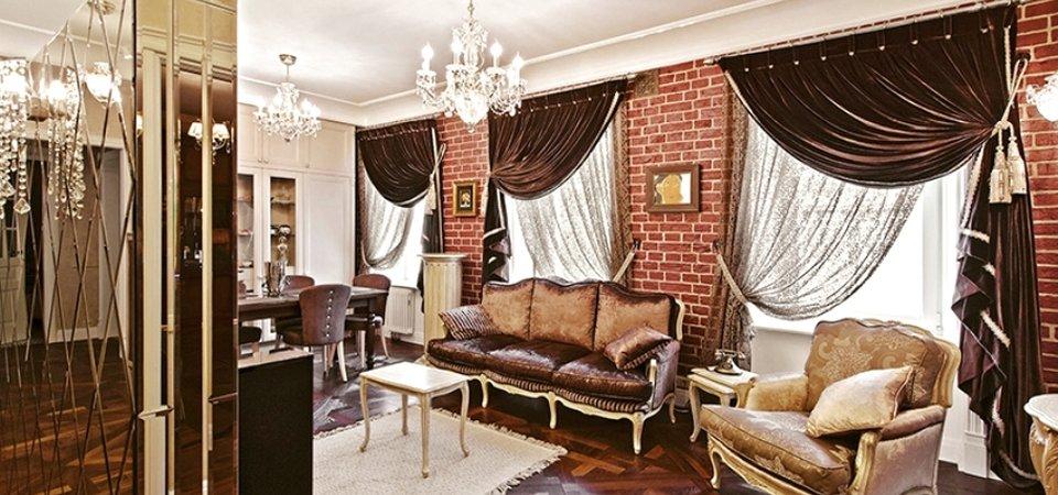 Винтажная квартира с чёрным ходом и множеством зеркал