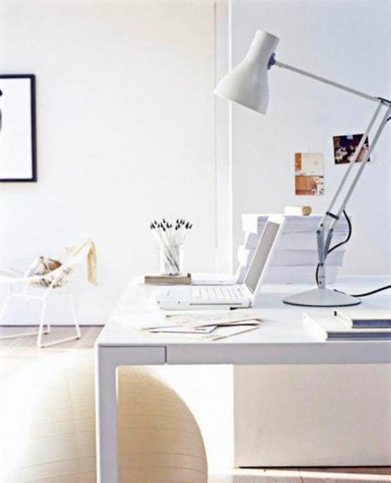 Офис в цветах: серый, белый, коричневый, бежевый. Офис в стиле минимализм.