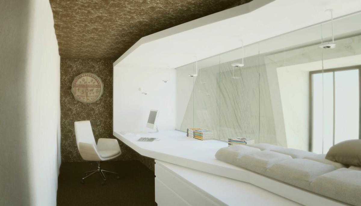 Офис в цветах: светло-серый, белый, бежевый. Офис в стилях: минимализм, экологический стиль.