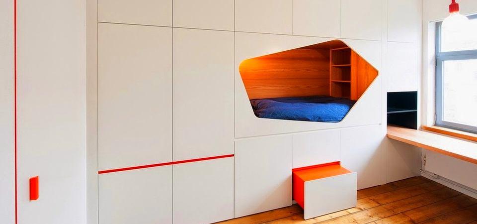 Как спрятать кровать в маленькой квартире: реальный пример