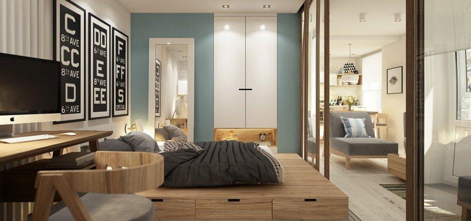 Как зонировать квартиру площадью 40 квадратных метров: 5 советов
