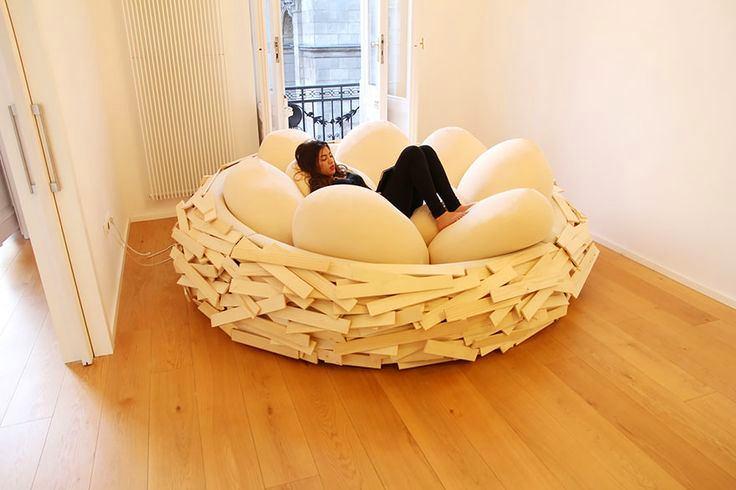 Мебель и предметы интерьера в цветах: оранжевый, желтый, белый, бежевый. Мебель и предметы интерьера в стиле экологический стиль.