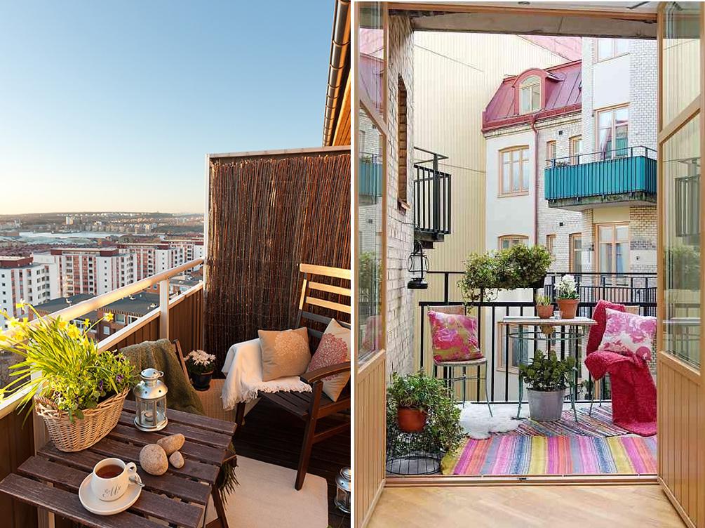 Как использовать маленький балкон или лоджию: 3 варианта и п.