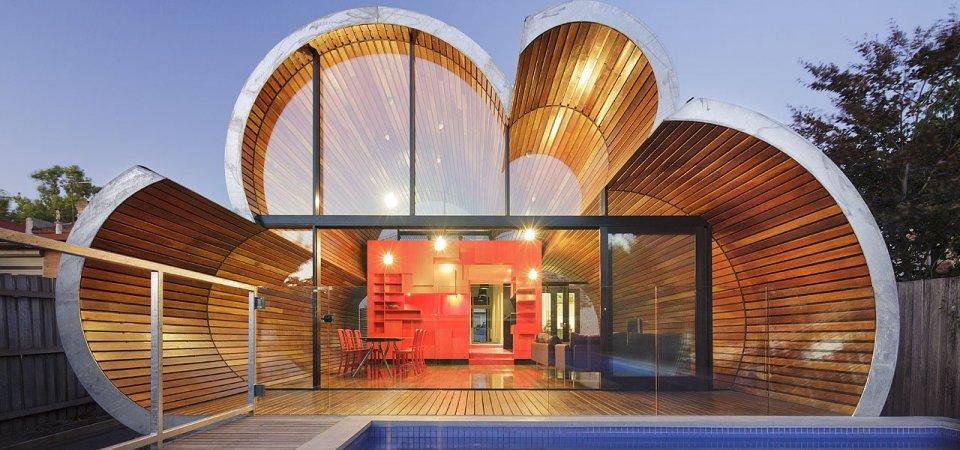 Вид снаружи: 10 жилых домов с необычными фасадами