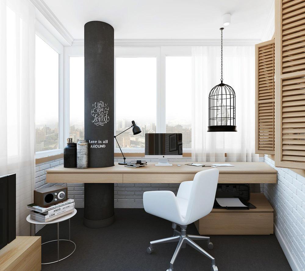 Балкон, веранда, патио в цветах: черный, серый, светло-серый, бежевый. Балкон, веранда, патио в стиле минимализм.