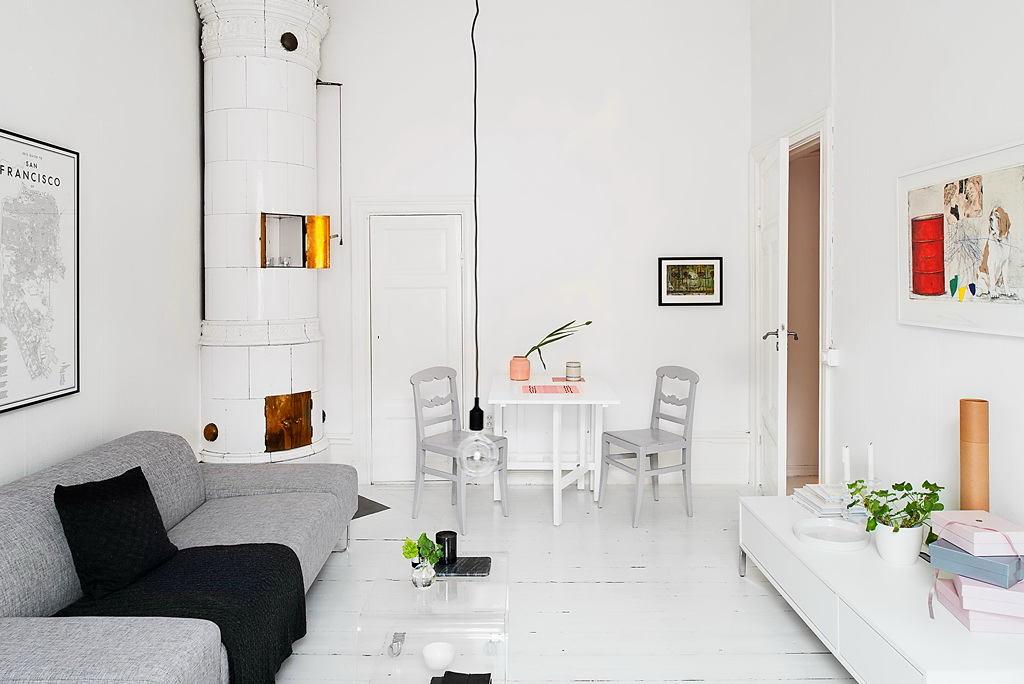Гостиная, холл в цветах: черный, серый, светло-серый, бежевый. Гостиная, холл в стиле скандинавский стиль.