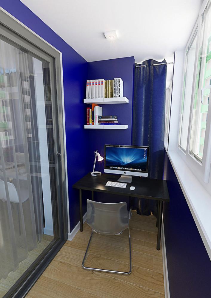 Балкон, веранда, патио в цветах: фиолетовый, черный, серый, светло-серый. Балкон, веранда, патио в стиле минимализм.
