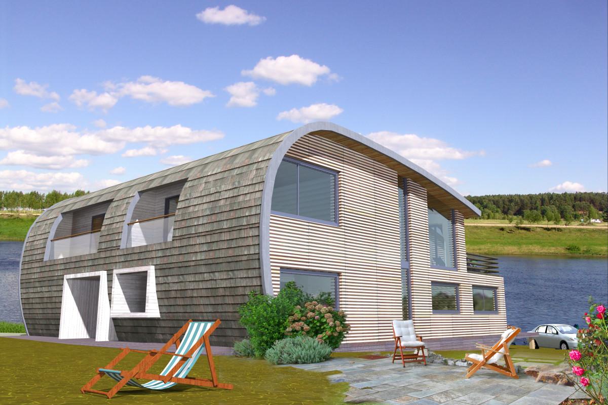 Удивительная реконструкция дома на Волге: был пятистенок, стал энергосберегающий коттедж