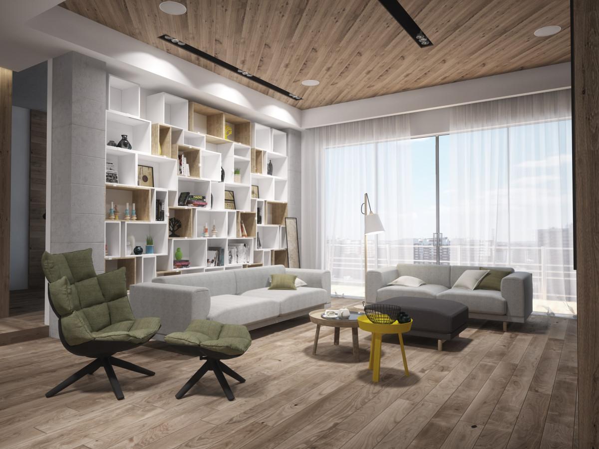 Проект минималистской квартиры на Кутузовском для специалиста по IT-технологиям