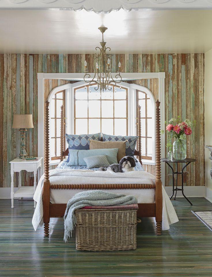 Спальня в  цветах:   Бежевый, Коричневый, Светло-серый, Серый, Темно-коричневый.  Спальня в  стиле:   Шебби-шик.