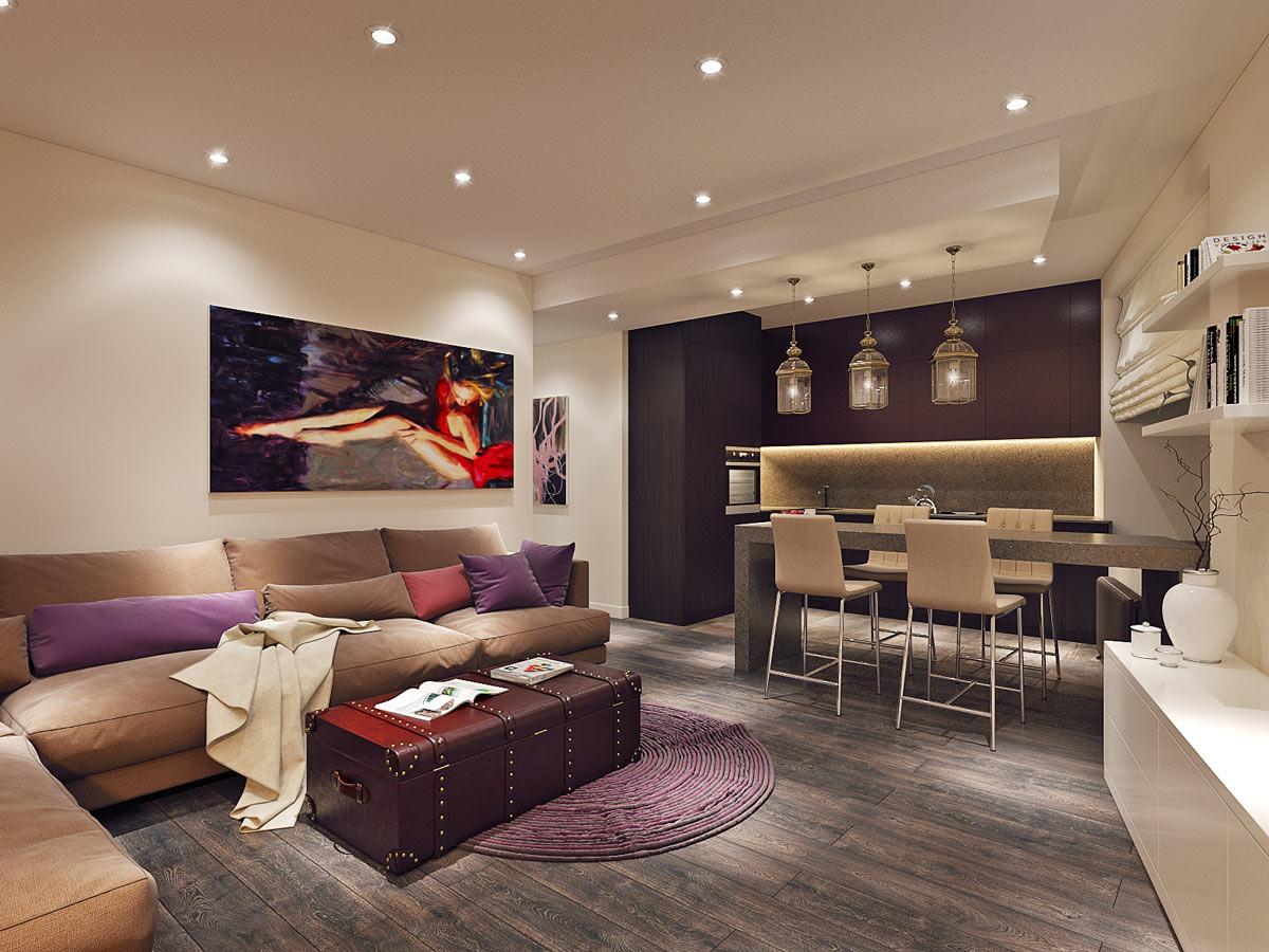 Уютная квартира площадью 75 метров для молодой семьи с ребёнком