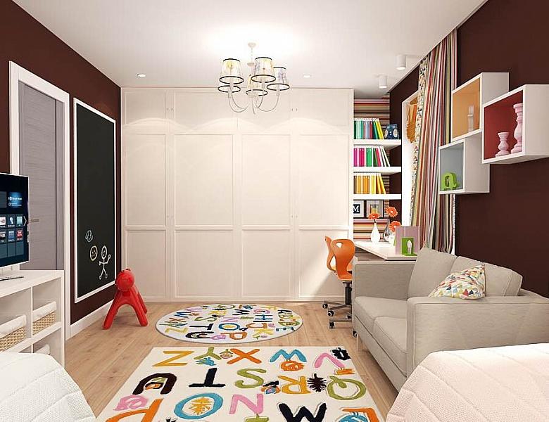Гостиная в  цветах:   Бежевый, Белый, Светло-серый, Темно-коричневый, Черный.  Гостиная в  стиле:   Минимализм.