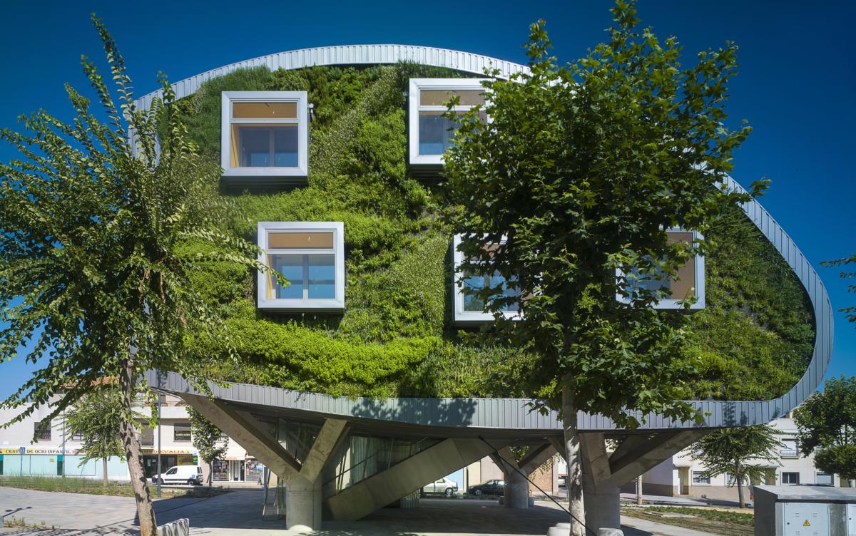 Энергоэффективный дом с фитостеной