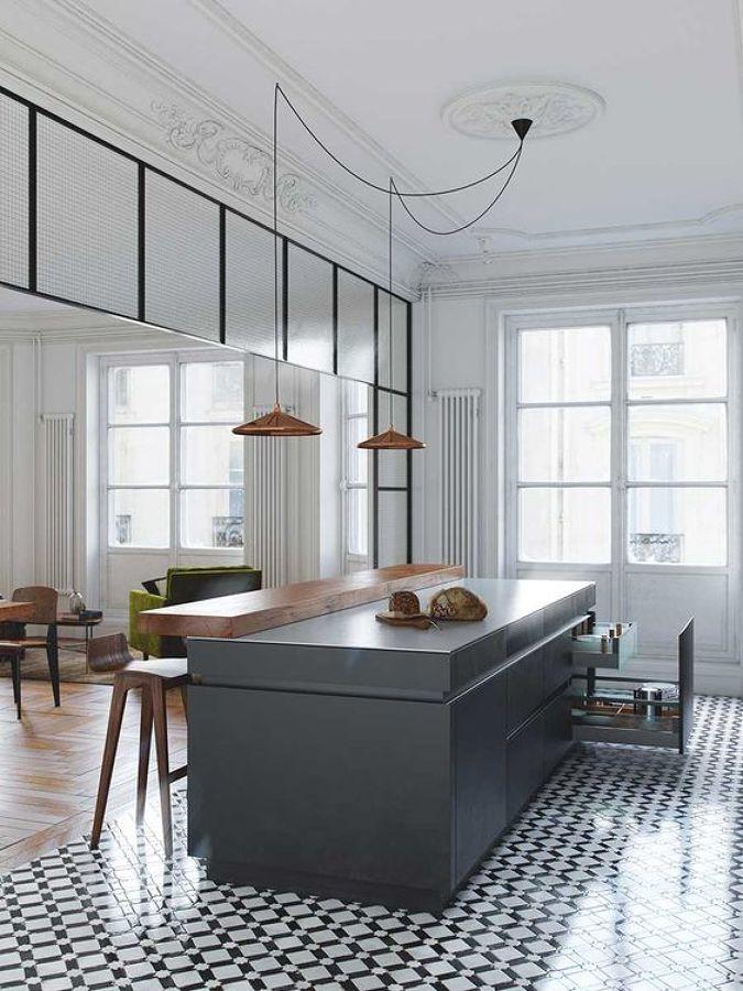 Кухня/столовая в  цветах:   Белый, Светло-серый, Серый, Синий, Черный.  Кухня/столовая в  стиле:   Скандинавский.