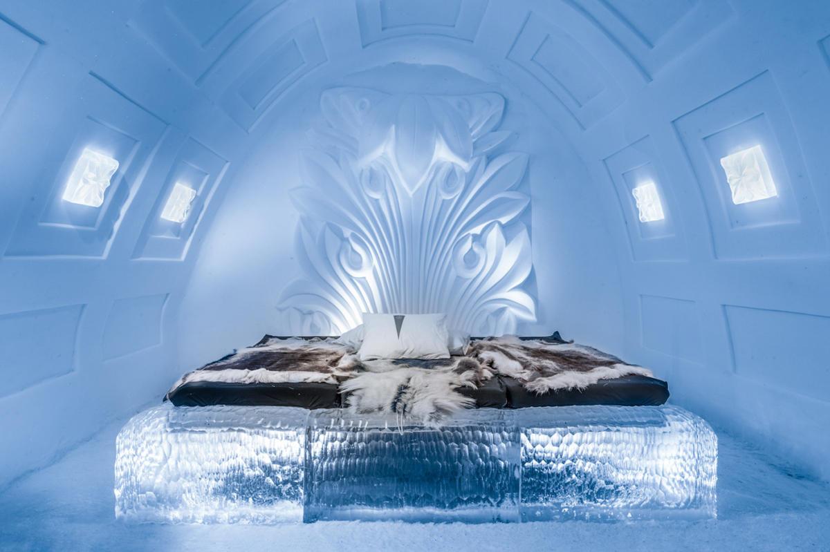 Отмороженный дизайн: 28 фото интерьеров ледяного отеля