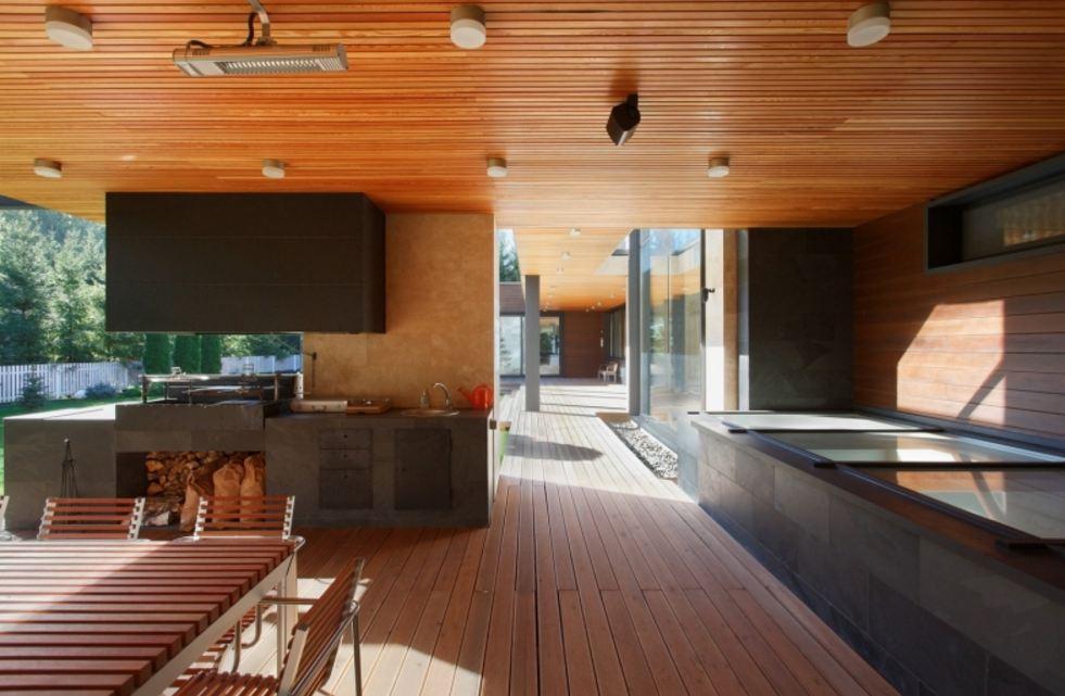 Кухня/столовая в  цветах:   Бежевый, Бирюзовый, Голубой, Коричневый, Темно-коричневый.  Кухня/столовая в  стиле:   Минимализм.