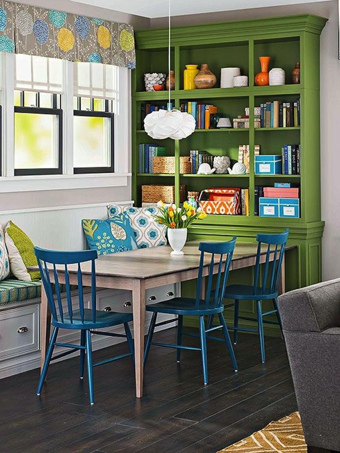 Кухня/столовая в  цветах:   Бежевый, Бирюзовый, Зеленый, Темно-зеленый.  Кухня/столовая в  стиле:   Минимализм.