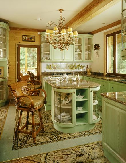 Кухня/столовая в  цветах:   Бежевый, Лимонный, Темно-коричневый.  Кухня/столовая в  стиле:   Классика.