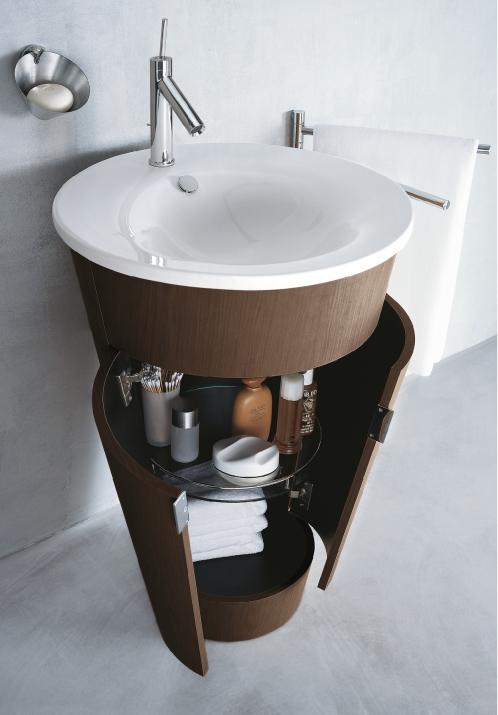 Ванная в  цветах:   Светло-серый, Серый, Темно-коричневый, Фиолетовый.  Ванная в  стиле:   Минимализм.